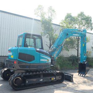 Escavadora 9 toneladas giro-zero